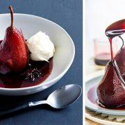 Αχλάδια ποσέ σε κόκκινο κρασί: Κλασικό επιδόρπιο της Βουργουνδίας