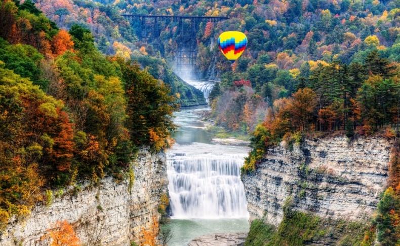 Letchworth State Park, Νέα Υόρκη, ΗΠΑ: Θαυμάζοντας την απαράμιλλη φυσική ομορφιά από ένα αερόστατο