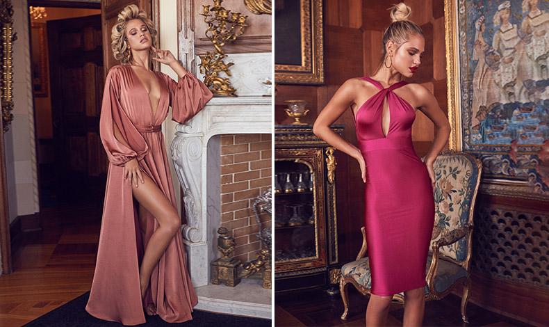 Το σατέν είναι γυαλιστερό και σέξι… Κι αν θέλετε μία ανατροπή, διαλέξτε ένα φόρεμα στις αποχρώσεις του ροζ ή του φούξια