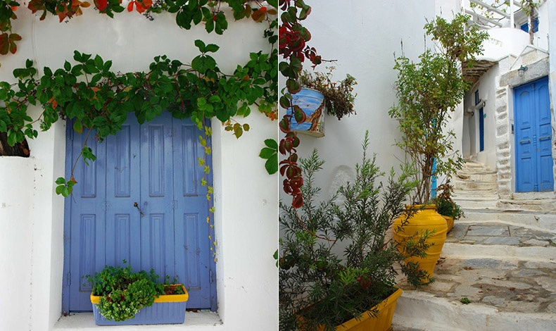 Όταν το λευκό συναντά το γαλάζιο του ουρανού και της θάλασσας, τις πινελιές του κίτρινου του ήλιου και τα λουλούδια?