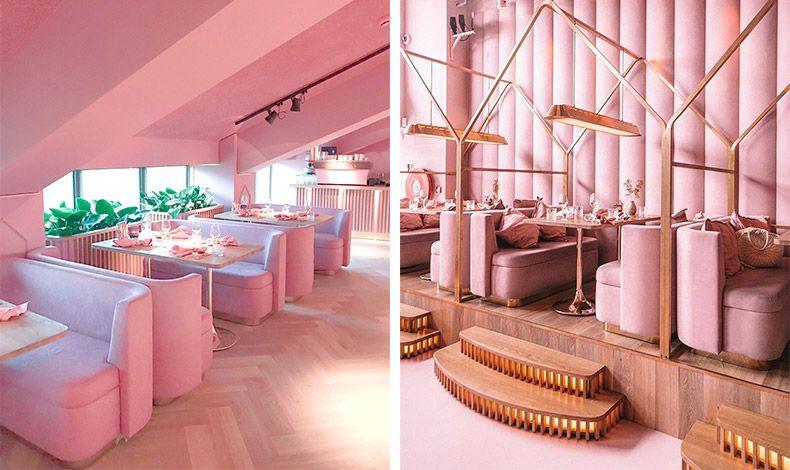 Το MaMa Kelly είναι ένα εστιατόριο ντυμένο στα ροζ με μερικές πινελιές χρυσού, που συνδυάζει το εντυπωσιακό design με ένα μενού επικεντρωμένο στον αστακό και το κοτόπουλο