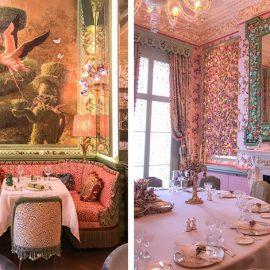 Το Garden Room είναι ένα λαμπερό και κομψό εστιατόριο με καθρέφτες, επιχρυσωμένο ταβάνι και γιρλάντες από τριαντάφυλλα ζωγραφισμένα από τον καλλιτέχνη Gary Myatt