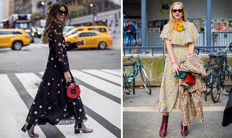 Φλοράλ μάξι φόρεμα συνδυασμένο με μπότες ή πάλι φλοράλ με λεοπάρ για μία ιδιαίτερη μείξη;