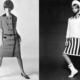 Σύνολο André Courrèges από το 1960 // Μοντέλο με μίνι, φωτογραφημένο από τον F.C. Gundlach το 1965