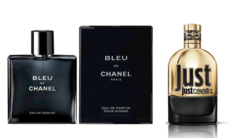 Chanel Bleu Eau de Parfum, με εσπεριδοειδή, πολύτιμο σανδαλόξυλο, αισθησιακό, ακαταμάχητο // Just Gold for him, το νέο αρρενωπό άρωμα σε χρυσό μπουκάλι από τη σειρά Just Cavalli