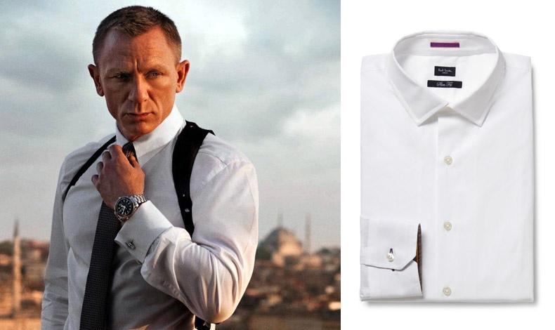Ο Daniel Craig ως πράκτορας James Bond στο «Skyfall» // Βαμβακερό πουκάμισο, Paul Smith London
