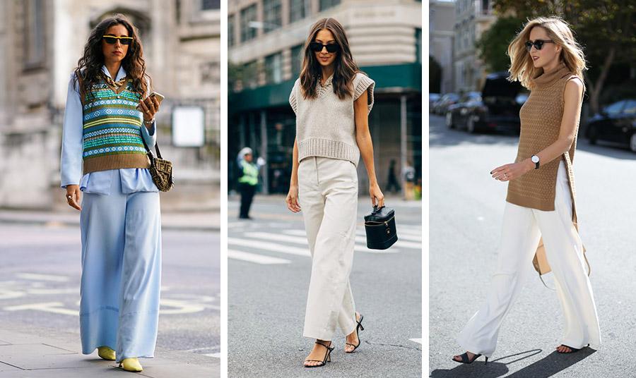 Κάθε είδους γιλέκο είναι μόδα, φορέστε το με φαρδιά παντελόνια και παστέλ αποχρώσεις // Ένα κοντό ή πιο μακρύ γιλέκο φορεμένο κατάσαρκα είναι μεγάλη τάση και ταυτόχρονα μία θηλυκή επιλογή. Σε συνδυασμό με λευκό παντελόνι είναι κατάλληλο για όλες τις ώρες και περιστάσεις