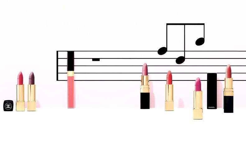 Η γκάμα σε φούξια, μοβ και κόκκινα χρώματα για τα χείλη, Collection Notes de Printemps, Chanel