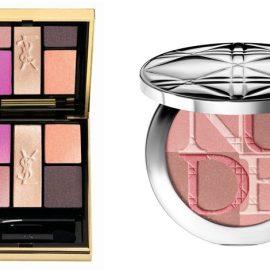 Σκιές ματιών Pivoine Crush Palette, YSL // Diorskin Nude Shimmer No001 Pink, Dior