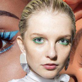 Μολύβι και γραμμές με μεγάλη ένταση και έντονο χρώμα δίνουν έμφαση στο μακιγιάζ των ματιών
