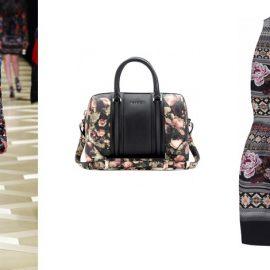 Από αριστερά: Roberto Cavalli, Τσάντα «Lucrezia» Givenchy, Φόρεμα Matthew Williamson
