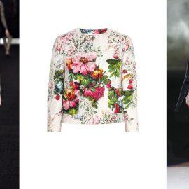 Από αριστερά: Erdem, Toπ Dolce & Gabbana, Badgley Mischka