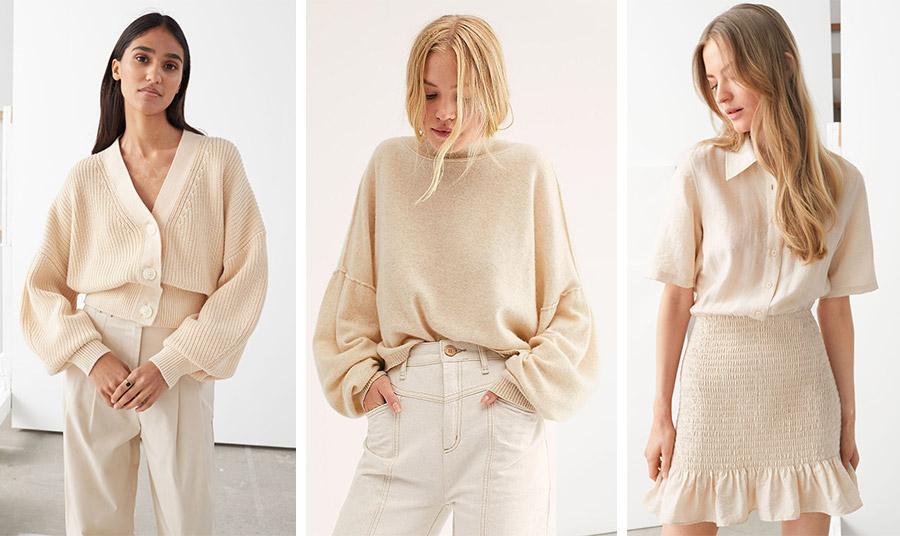 Μοντέρνο και εκλεπτυσμένο, το χρώμα του αμυγδαλέλαιου ταιριάζει σε πλεκτά, τζιν, πουκάμισα, φούστες ή παντελόνια και είναι τέλειο και για την άνοιξη
