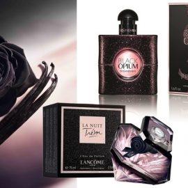 Βlack Opium, Yves Saint Laurent, απλά εθιστικό! // La Nuit Tr?sor, Lanc?me, με αιθέριο έλαιο μαύρου τριαντάφυλλου και μία ερωτική νότα ορχιδέας βανίλια Ταϊτής και λιβανιού // La Vie est Belle L' Eau de Parfum Intense, Lancome, πλούσιο και αισθησιακό για εκλεπτυσμένες θηλυκές στιγμές