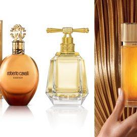 Essenza Εau de Parfum, Roberto Cavalli, με προκλητικές νότες πικραμύγδαλου και μυστηριώδη βανίλια // I am Juicy Couture, τολμηρό με αισθησιακή γαρδένια και ζουμερά φρούτα // Must de Cartier, ένα ανατολίτικο άρωμα που αποπνέει πολυτέλεια