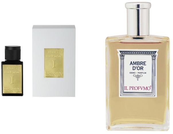 Eau De Parfum 1, Korres (στα φαρμακεία) // Ambre d' Or Parfum, Il Profvmo (KG Perfumes & more, στο ξενοδοχείο Κing George)