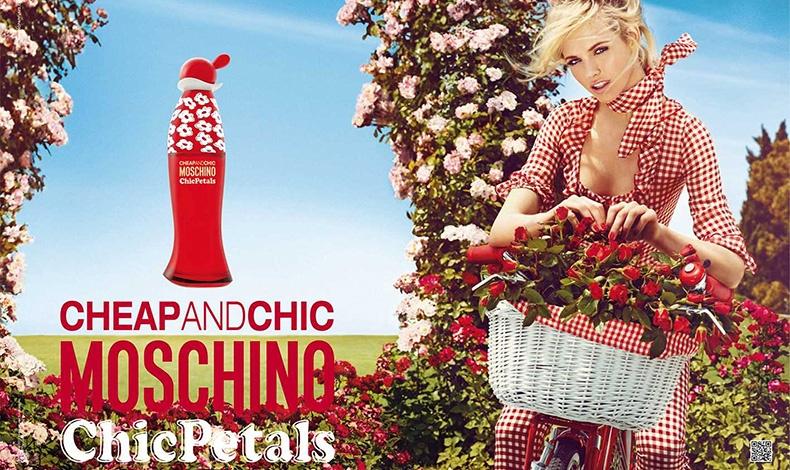 Η χαρά της άνοιξης... ένα μπουκάλι κατακόκκινο με λευκές μαργαρίτες Chic Petals, Cheap and Chic, Moschino