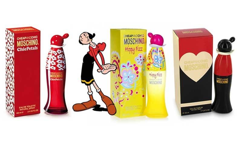 Η παιχνιδιάρικη και ανατρεπτική διάθεση διακρίνει τον οίκο Moschino σε πολλές εκδοχές των αρωμάτων του, όπως το Chic Petals, το Hippy Fizz και το Chip and Chic Eau de Parfum
