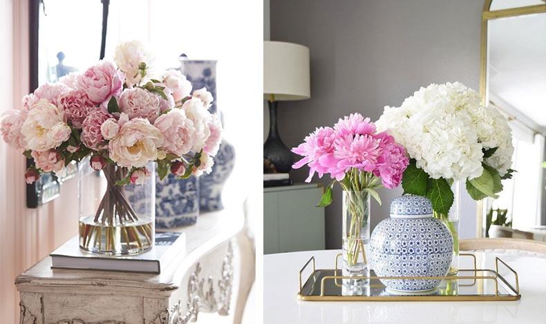 Γεμίστε ένα βάζο με όμορφα λουλούδια. Εκτός από το ελαφρύ τους άρωμα είναι και χάρμα οφθαλμών!