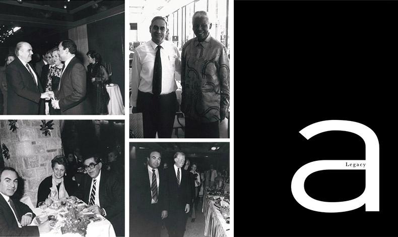 Εικόνες από τους φιλοξενούμενους του Αστέρα. Μεταξύ αυτών, ο Ανδρέας Παπανδρέου, ο Νέλσον Μαντέλα, ο Τζίμι Κάρτερ και το ζεύγος Δημήτρη Μαρούδα // Το εξώφυλλο του συλλεκτικού λευκώματος Astir Palace Legacy