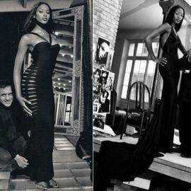 Ο μετρ με την Naomi Campbell, η οποία τον αποκαλούσε Papa και την οποία γνώρισε όταν το διάσημο μοντέλο ήταν μόλις 16 ετών