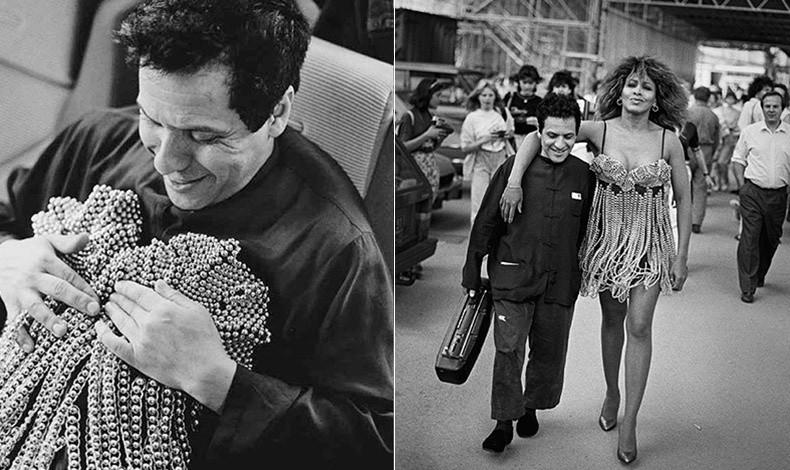 Δουλεύοντας ένα φόρεμα με μπούστο για την Τίνα Τάρνερ και με την ίδια αγκαλιά το1989