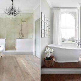 Ρετρό γραμμές συνδυασμένες με τεχνολογία, άπλετο φως και τεράστιες ντουσιέρες είναι οι βασικές τάσεις για το μπάνιο