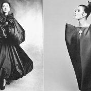 Κοκτέιλ φόρεμα δια χειρός Balenciaga (φωτο: Hiro για το Harpers Bazaar, τον Σεπτέμβριο 1967) // Φόρεμα Balenciaga (φωτο: Irving Penn για την Vogue, Σεπτέμβριος 1950)