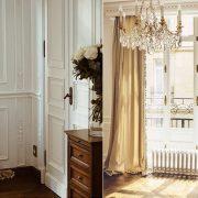 Στους χώρους κυριαρχούν οι κρεμ-χρυσαφί αποχρώσεις, αστραφτεροί πολυέλαιοι, οι κομψοί καθρέφτες…