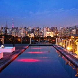 Το ατμοσφαιρικό Skye Bar στο Σάο Πάολο διαθέτει θέα σε σχεδόν ολόκληρη τη βραζιλιάνικη μεγαλούπολη