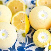 Βath balls με αιθέριο έλαιο από λεμόνι!