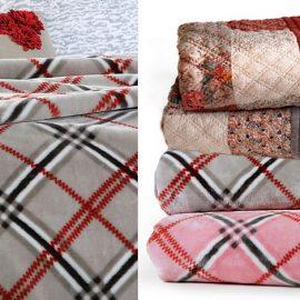 Για τέλεια στρωμένο κρεβάτι κουβρ-λι Orlando, σε 2 χρώματα: Wine & Grey, το υπ/πλο, 155,00?, μαξιλάρι, 14,90? // Σαν απαλό χάδι οι κουβέρτες Rhombus, μονή, 42,00€ και υπ/πλη, 59,00€, σε 2 χρώματα: Grey & Pink, όλα NEF NEF HOMEWARE