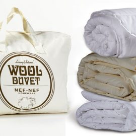 Πάπλωμα Wool με γέμισμα 100% αυστραλιανό μαλλί, φυσικό, αντιαλλεργικό. Πάπλωμα βρεφικό κούνιας, 39,00?, μονό, 84,00?, υπ/πλο, 118,00? // Πάπλωμα Microfiber, με γέμισμα από λεπτή ίνα για μαλακή αίσθηση, αντιαλλεργικό, αναπνέον. Πάπλωμα βρεφικό κούνιας, 27,00€, μονό, 48,00?, υπ/πλο, 68,00?, όλα NEF NEF HOMEWARE