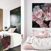 Συνδυάστε ένα εντυπωσιακό πόστερ ή πίνακα πάνω από το κρεβάτι με το ανάλογο ριχτάρι ή τα λευκά είδη σε χρωματική αρμονία