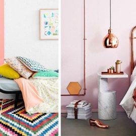 Οι συνδυασμοί παστέλ αποχρώσεων χαρίζουν θηλυκότητα και «απαλή» αύρα στον χώρο // Οι χάλκινες πινελιές είναι τάση και ταιριάζουν τέλεια με ροζ και λευκό