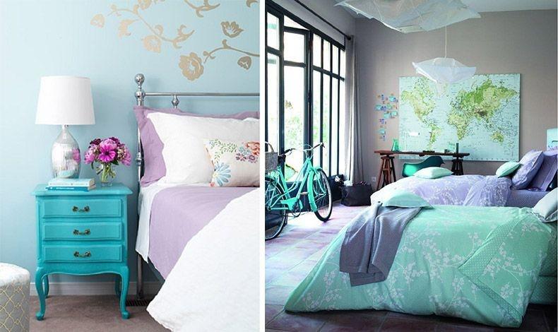 Το μοβ της λεβάντας είναι το πιο μοντέρνο χρώμα και συνδυάζεται θαυμάσια με γαλαζοπράσινο δημιουργώντας τόσο δροσερό όσο και ιδιαίτερα στιλάτο αποτέλεσμα