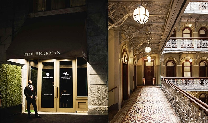 Το The Beekman είναι η νέα άφιξη στη νεοϋορκέζικη ξενοδοχειακή σκηνή // Άποψη από τους εσωτερικούς διαδρόμους που οδηγούν στα δωμάτια και «βλέπουν» σε εσωτερικό αίθριο