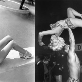 Η Rita Hayworth με ολόλευκο μπικίνι // Η Jayne Mansfield με σέξι λεοπάρ μπικίνι