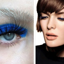Μία γραμμή με ένταση για τολμηρό μακιγιάζ // Χρησιμοποιήσετε ένα έντονο μπλε άι-λάινερ για άκρως εντυπωσιακό αποτέλεσμα