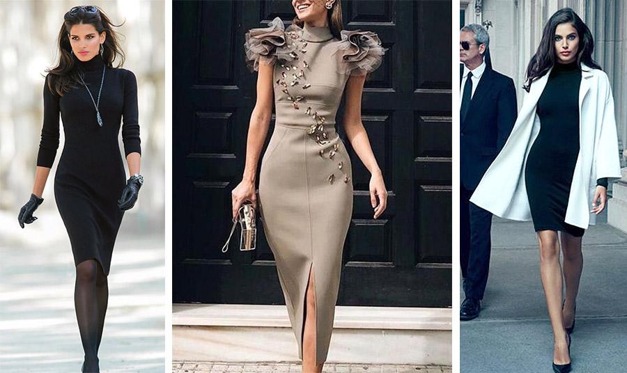 Το συγκεκριμένο στιλ φορέματος φοριέται σίγουρα ως βραδινό με κομψά αξεσουάρ και κοσμήματα αλλά και με ένα ελαφρύ κάρντιγκαν γίνεται μία θαυμάσια επιλογή και για τις επαγγελματικές υποχρεώσεις μας