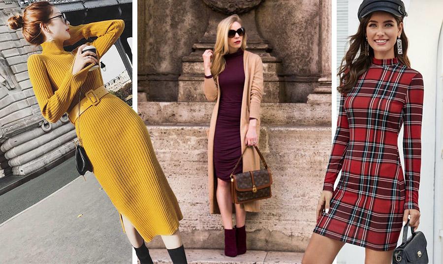 Τα ριμπ μίντι bodycon φορέματα μπορούν να φορεθούν από το πρωί έως το βράδυ // Συνδυάστε το με μία μακριά πλεκτή ζακέτα // Βodycon και καρό-σκακιέρα! Το τέλειο «πάντρεμα» της μόδας!