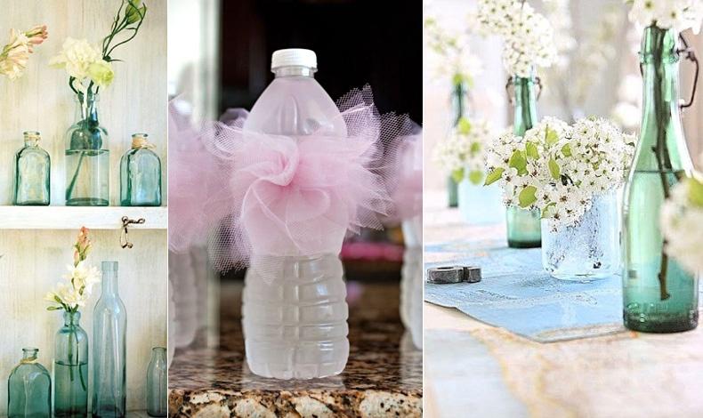Γυάλινα μπουκάλια νερού αλλά και ένα «ταπεινό» πλαστικό που μετατρέπεται σε μπαλαρίνα