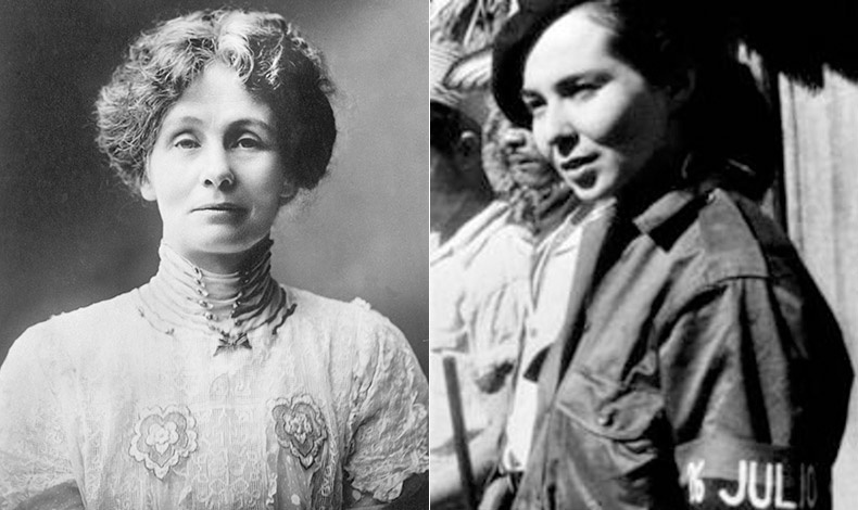Η Emmeline Pankhurst, Βρετανίδα Σουφραζέτα, ιδρύτρια της οργάνωσης Κοινωνική και Πολιτική Ένωση Γυναικών // Η Vilma Esp?n, Κουβανή επαναστάτρια που αγωνίστηκε για την ανατροπή του δικτάτορα Μπατίστα
