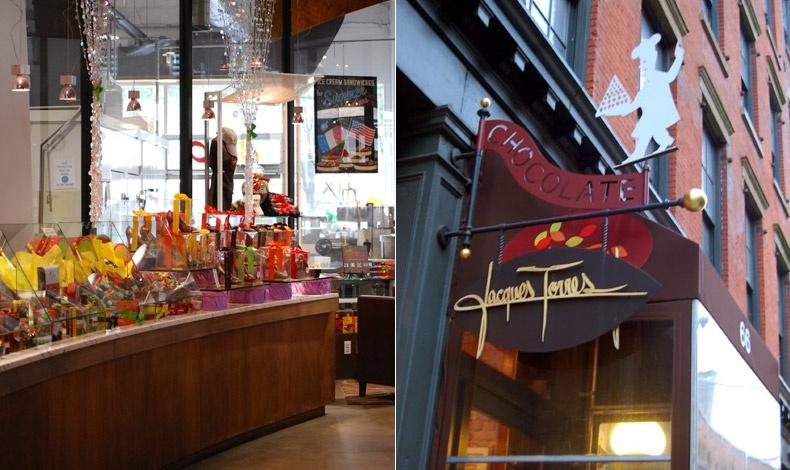 Jacques Torres Chocolate, ένα κατάστημα-κόσμημα άνοιξε στη Νέα Υόρκη το 2000 από τον νεαρότερο βραβευμένο ζαχαροπλάστη Jacques Torres