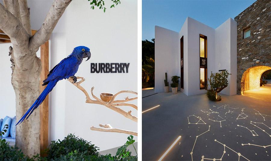 Ο οίκος Burberry κάνει… διακοπές στη Μύκονο