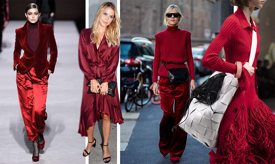 Το μοναδικό σύνολο για την Gigi Hadid στην επίδειξη του Tom Ford. Η πιο  hot πρόταση για να υιοθετήσουμε το χρώμα // Υπέρκομψο φόρεμα Zimmerman για την Claire Holt // Ριμπ πλεκτό ζιβάγκο με παντελόνι στις ίδιες αποχρώσεις, η επιτομή του στιλ // Όπως κι αν φορεθεί αυτό το χρώμα είναι chic!