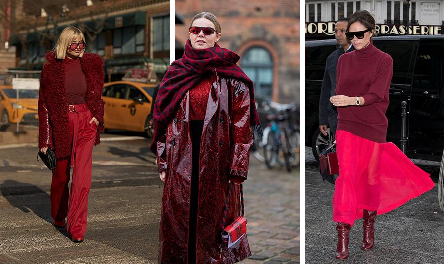 Ένα πανωφόρι, μπότες ή μία τσάντα στο βαθύ κόκκινο είναι η τελευταία λέξη της μόδας