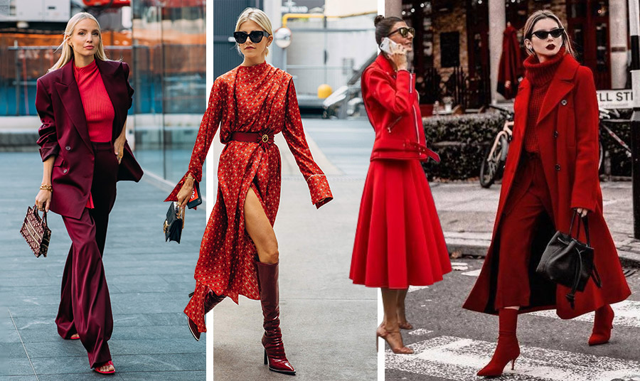 Ένας εκπληκτικός τρόπος και πολύ της μόδας είναι ο συνδυασμός του κόκκινου της Βουργουνδίας με το λαμπερό κόκκινο