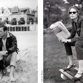 """Ο Yves Montand και η Simone Signoret στην πλαζ La Baule το 1959 / """"Η κομψότητα μίας γυναίκας περνά αναγκαστικά μέσα από ένα ρολόι Cartier στον καρπό της"""", Ralph Lauren"""
