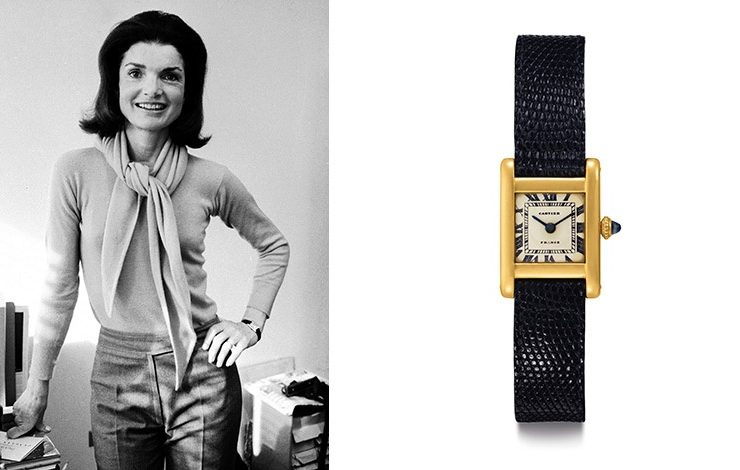 H Tζάκι Κέννεντι με το αγαπημένο της ρολόι Cartier